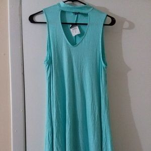 Turquoise choker Dress Small NWT